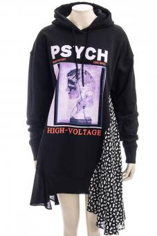 MCQ ALEXANDER MCQUEEN Kleid CUT UP HOODIE DRESS CUT UP