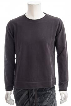JUVIA Langarmshirt FLEECE SWEATER RAW EDGE