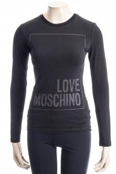 LOVE MOSCHINO Shirt LM LONGSLEEVE BLACK LOVE
