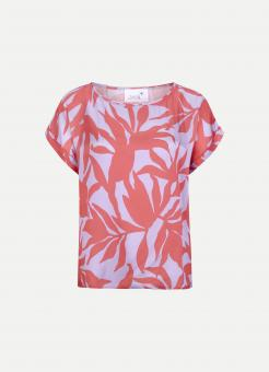 JUVIA Shirt VI SATIN ABSTRACT LEAVES