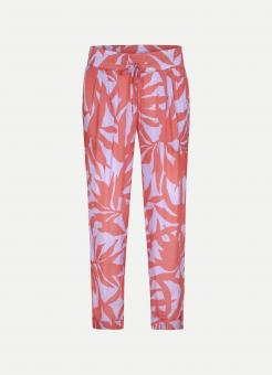 JUVIA Hose VI SATIN ABSTRACT LEAVES TROUSERS