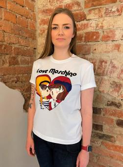 LOVE MOSCHINO T-Shirt LM JRSY PARISIAN DOLLS TEE
