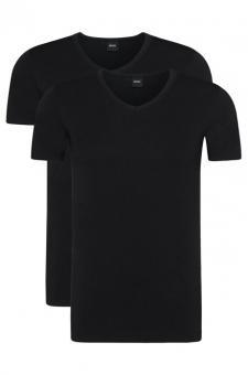 HUGO BOSS Shirt mit V-Ausschnitt im Doppelpack